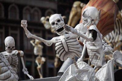 Cuadro Esqueletos del día tradicional de los muertos, México