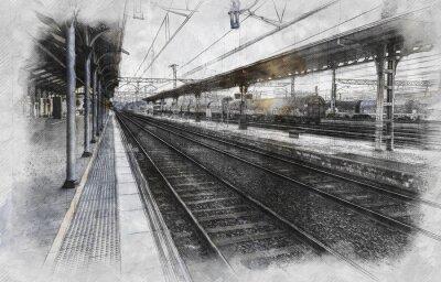 Cuadro Estación de tren