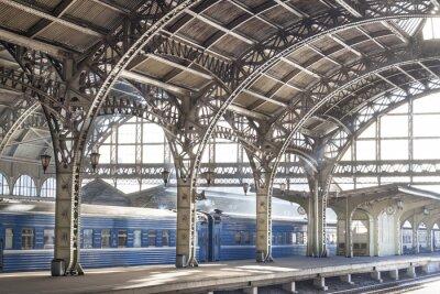 Cuadro Estación de tren de metal