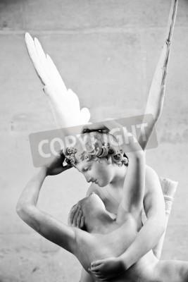 Cuadro Estatua Psique de Antonio Canova restablecida por el beso del Cupid, primera puesta en servicio en 1787, es un ejemplo de la devoción al amor neoclásico y la emoción