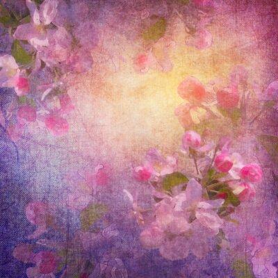 Cuadro Estilo de la pintura de primavera de arte floral