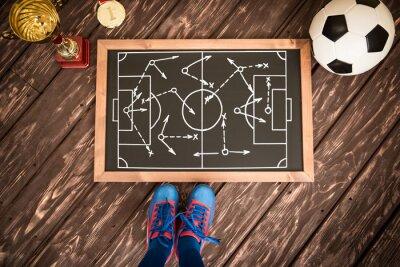 Cuadro Estrategia de juego de fútbol