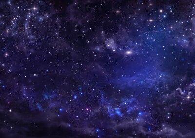 Cuadro Estrellado cielo nocturno profundo espacio