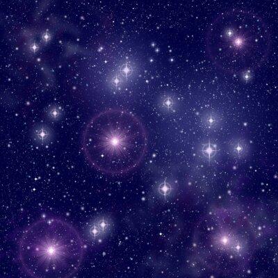 Cuadro Estrellas brillantes en el espacio profundo
