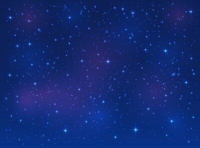 Cuadro Estrellas en el cielo azul de fondo