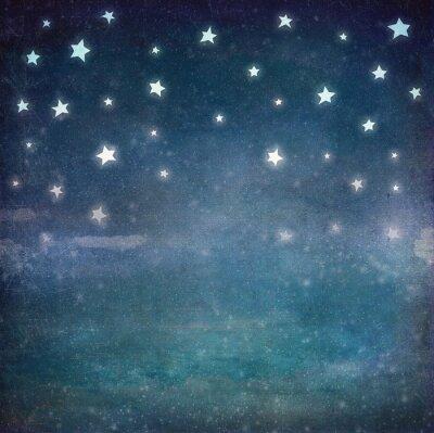 Cuadro Estrellas en el cielo grunge de la noche, de fondo