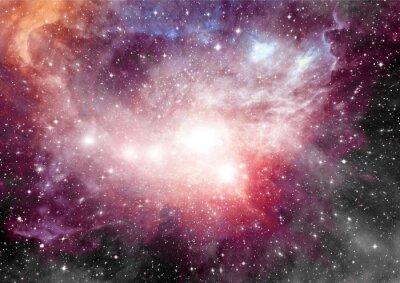 Cuadro Estrellas, nebulosa de polvo y gas