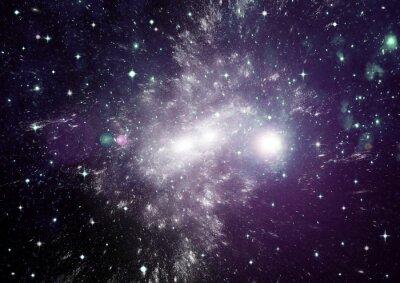 Cuadro Estrellas, polvo y gas nebulosa en una galaxia lejana