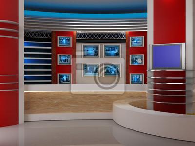 Cuadro estudio de televisión