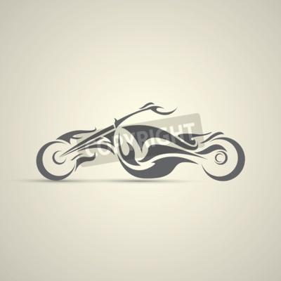 Cuadro etiqueta de la motocicleta vintage, insignia, elemento de diseño. logotipo abstracto de la motocicleta