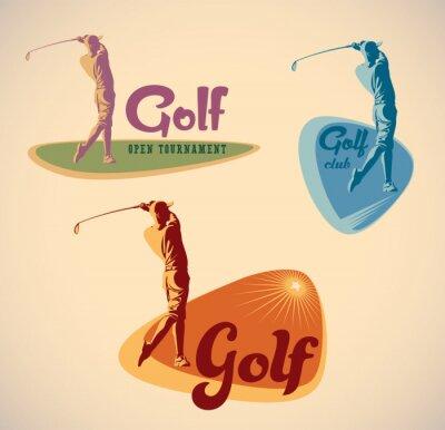 Cuadro Etiquetas de golf