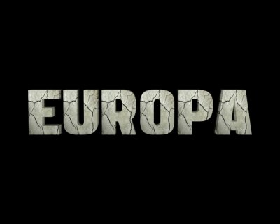 Cuadro Europa palabra 3d