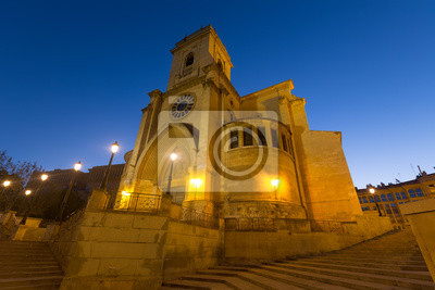 Evening view of  Albacete Cathedral. Spain