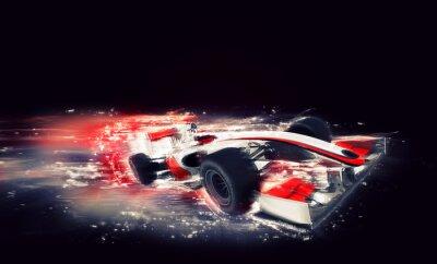 Cuadro F1 genérico con efecto especial de velocidad