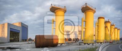 Fabryka do produkcji fundamentalów platform morskich siłowni wiatrowych