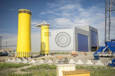 Fabryka plataforma de morskich elektrowni wiatrowych, Ostrów Grabowski, Szczcecin, Polonia
