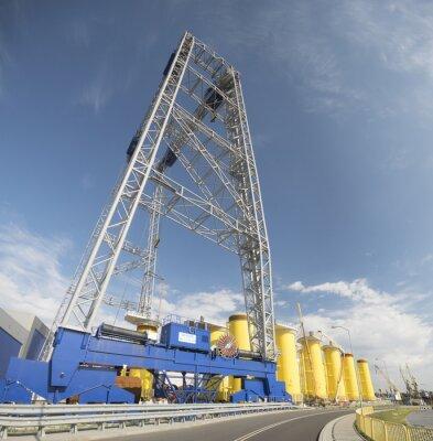 Fabryka plataforma hacer morskich elektrowni wiatrowych ,, Szczcecin, Polska