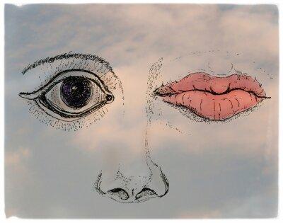 Cuadro Face, metaphorical artistic collage
