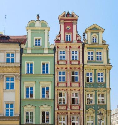 fachada de casas antiguas