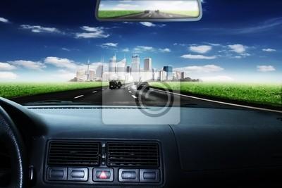 Fahrt en Richtung Stadt