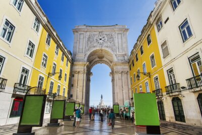 Cuadro famoso arco de la calle Augusta situado en Lisboa