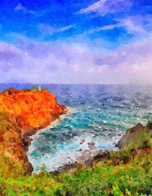 Cuadro Faro de Kauai