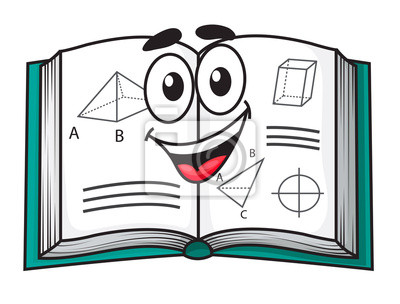 Feliz Sonriente Libro De Texto Escolar De Dibujos Animados Pinturas