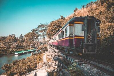 Cuadro Ferrocarril de la muerte en Kanchanaburi, Tailandia