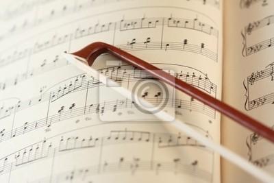 fiddlestick en la hoja de la música