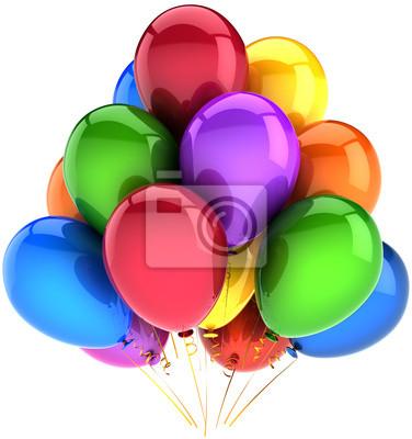 Fiesta de globos de cumpleaños decoración de vacaciones multicolor
