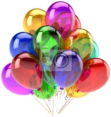 Fiesta de globos decoración de feliz cumpleaños varios colores