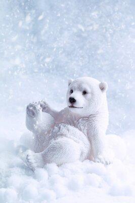Cuadro Figura del oso polar