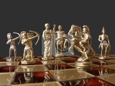 figuras de ajedrez en el tablero de ajedrez