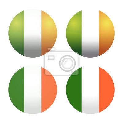Fije las banderas irlandesas redondas. banderas redondas de irlanda ...