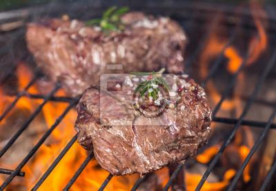 Cuadro Filetes de carne en la parrilla