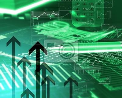 Financiera diagramas, tablas y gráficos