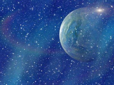 Cuadro Flash blanco del planeta espacial. Cosmos cielo fondos