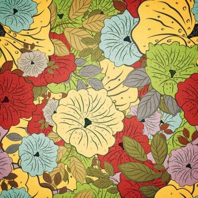 Cuadro Floral sin costura grunge patrón de colores