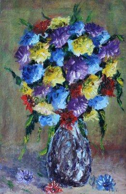 Cuadro Florero de flores, bodegón