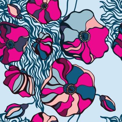 Cuadro Flores abstractas de fondo. Patrón sin fisuras