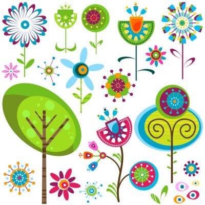 Cuadro flores banal