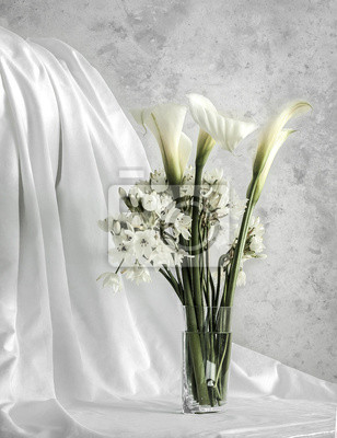 Cuadro Flores blancas