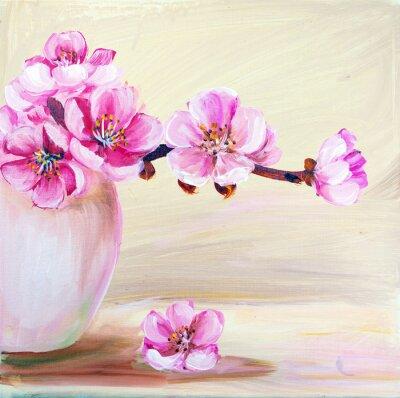 Cuadro Flores de Sakura en el florero