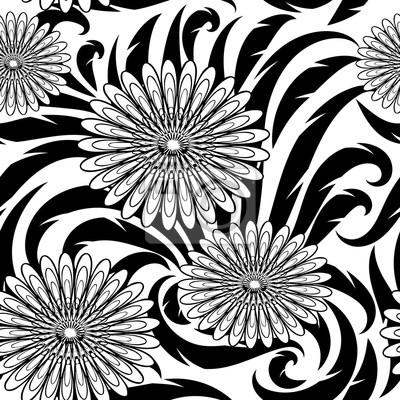Flores Vector De Patrones Sin Fisuras Papel Tapiz Hermoso Floral