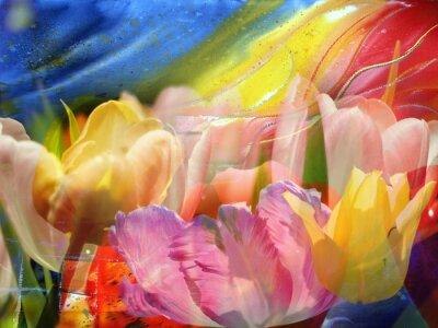 Cuadro Flujo de flores