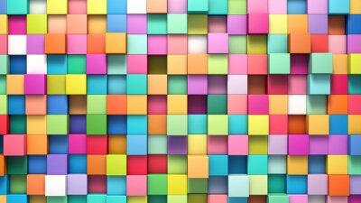 Cuadro Fondo abstracto de cubos multicolores