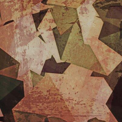 Cuadro Fondo abstracto de la pared del grunge, cubismo