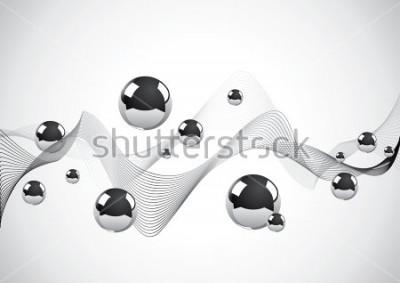 Cuadro Fondo abstracto de un conjunto de bolas de metal
