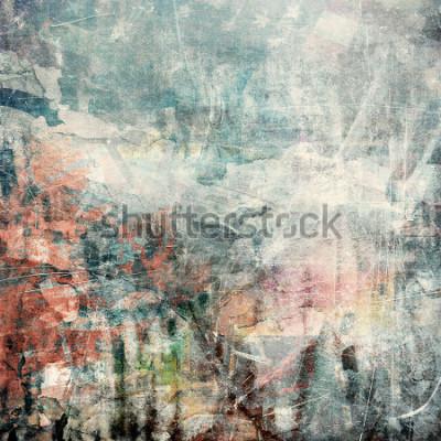Cuadro Fondo abstracto del grunge, textura rasguñada