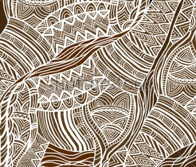 Cuadro Fondo africano en el estilo étnico de pintado a mano.